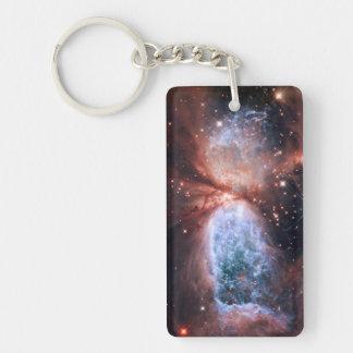 Sharpless 2-106 Nebula Star Formation Space Double-Sided Rectangular Acrylic Keychain