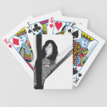 Sharply Blured Woman Bicycle Playing Cards