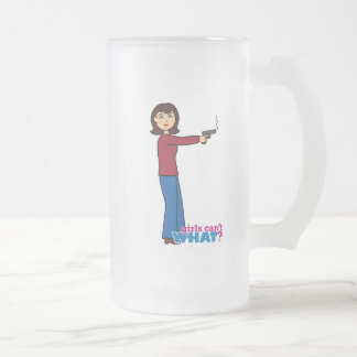 Sharpshooter 16 Oz Frosted Glass Beer Mug