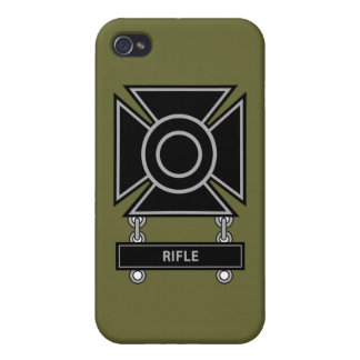 Sharpshooter Badge w/Rifle Bar iPhone 4 Cases