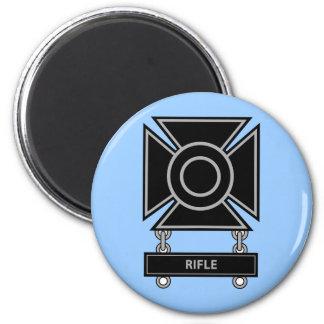 Sharpshooter Badge w/Rifle Bar Magnet