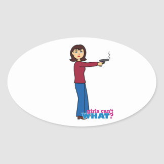 Sharpshooter Oval Sticker