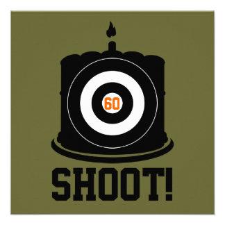 Sharpshooter s 60th Birthday - Hunting Invitation