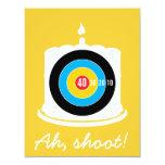 "Sharpshooter's 40th Birthday - Dart Invitation 4.25"" X 5.5"" Invitation Card"