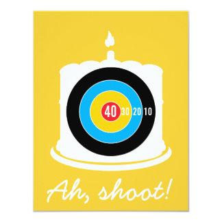 Sharpshooter's 40th Birthday - Dart Invitation