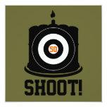 "Sharpshooter's 50th Birthday - Hunting Invitation 5.25"" Square Invitation Card"