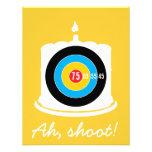 Sharpshooter's 75th Birthday - Target Invitation