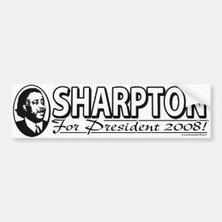 Sharpton para el presidente pegatina para el parac etiqueta de parachoque