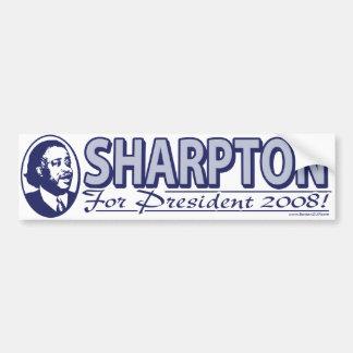Sharpton para el presidente pegatina para el parac pegatina de parachoque