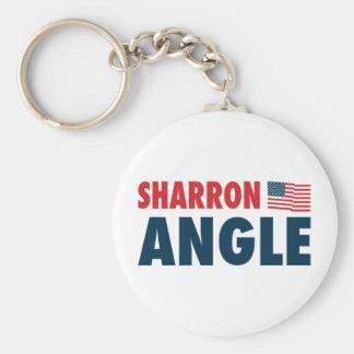 Sharron Angle Patriotic Basic Round Button Keychain