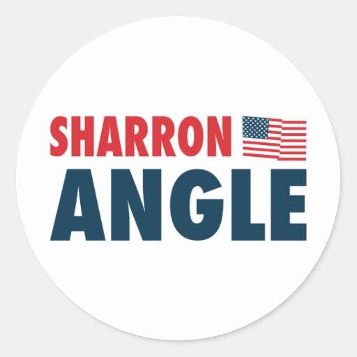 Sharron Angle Patriotic Round Stickers