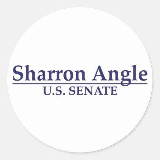 Sharron Angle U.S. Senate Round Sticker