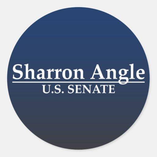 Sharron Angle U.S. Senate Round Stickers