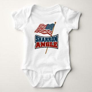 Sharron Angle Waving Flag Infant Creeper