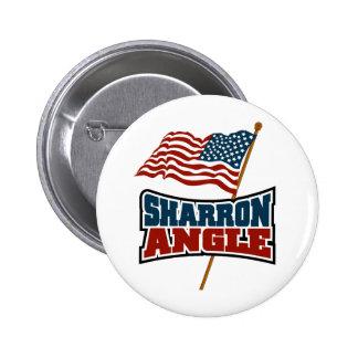 Sharron Angle Waving Flag Pinback Button