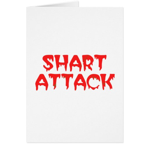 SHART ATTACK GREETING CARD