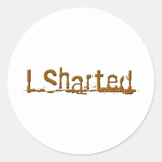 sharted2 classic round sticker