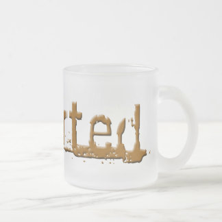 sharted frosted glass coffee mug