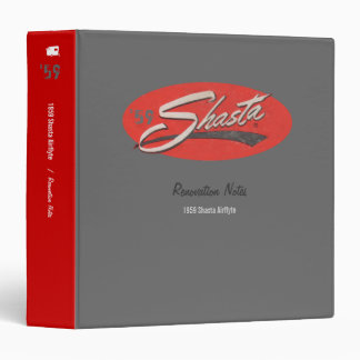Shasta Camper Renovation Notes Customizable Binder