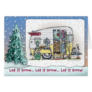 Shasta Camper Trailer Holiday Cards