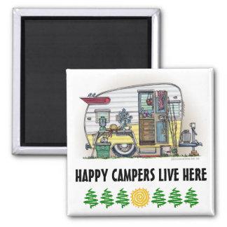 Shasta Camper Trailer RV 2 Inch Square Magnet