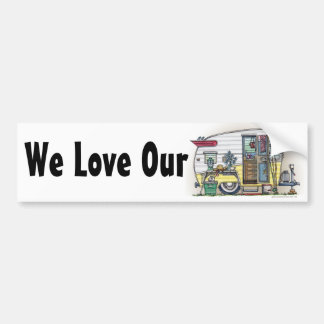 Shasta Camper Trailer RV Bumper Stickers