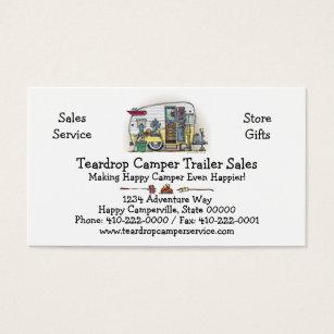 Camper business cards templates zazzle shasta camper trailer rv business card colourmoves
