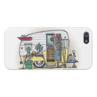 Shasta Camper Trailer RV Case For iPhone SE/5/5s