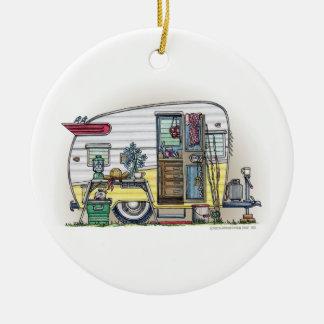 Shasta Camper Trailer RV Ceramic Ornament