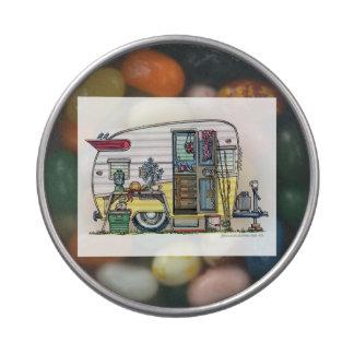 Shasta Camper Trailer RV Jelly Belly Tins