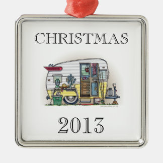Shasta Camper Trailer RV Metal Ornament