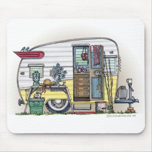 Shasta Camper Trailer RV Mouse Pad