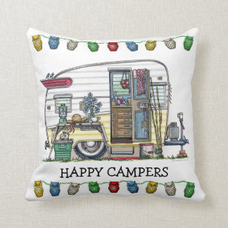 Shasta Camper Trailer RV Throw Pillows