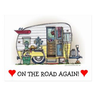 Shasta Camper Trailer RV Postcard
