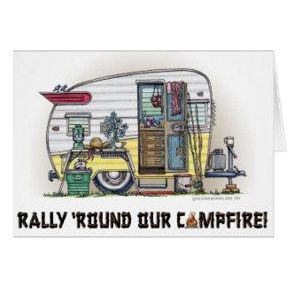 Shasta Camper Trailer RV Stationery Note Card