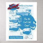 Shasta Camper Vintage Ad - Cool Cats Poster