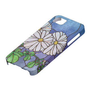Shasta Daisies Stained Glass Look iPhone 5 Cover
