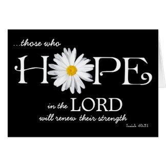 Shasta Daisy Hope in the Lord Isaiah 40:31 Card