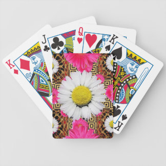 Shasta Daisy & Pink Gerbera Gifts Bicycle Playing Cards