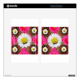 Shasta Daisy & Pink Gerbera Gifts Decal For Kindle Fire