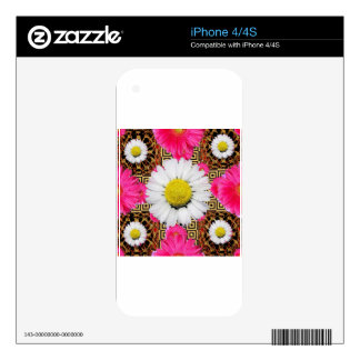 Shasta Daisy & Pink Gerbera Gifts Decal For The iPhone 4S