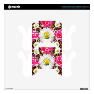 Shasta Daisy & Pink Gerbera Gifts Skins For PS3 Controllers