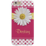 Shasta Daisy Pink Polka Dot Flower Floral Barely There iPhone 6 Plus Case