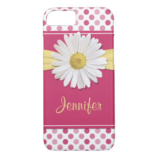 Shasta Daisy Pink Polka Dot iPhone 8/7 Case