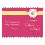 Shasta Daisy Polka Dot Wedding Program Flyer Design