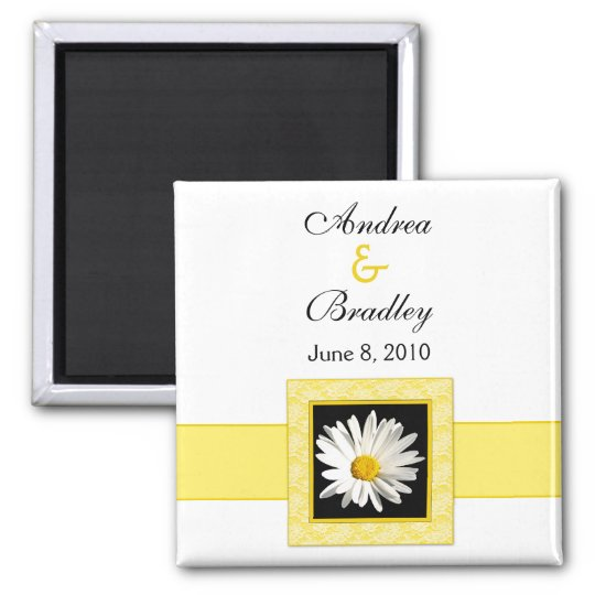 "Shasta Daisy ""Save the Date"" magnet"