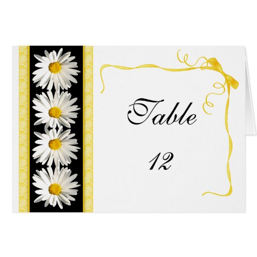 Shasta Daisy Table Number Tent Card