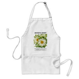 Shasta Daisy Vintage Seed Packet Adult Apron