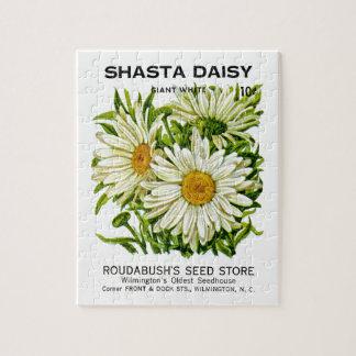 Shasta Daisy Vintage Seed Packet Jigsaw Puzzle