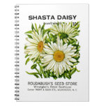 Shasta Daisy Vintage Seed Packet Spiral Note Books